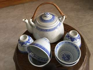 Chinese Teapot Set 青花瓷茶具👑