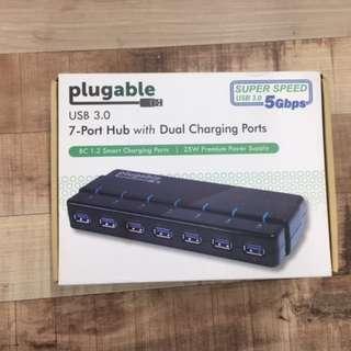 Plugable USB 3 Hi Speed Hub 7-Ports NEW