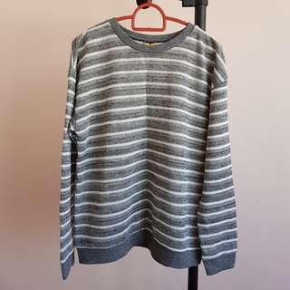 #20under Grey Stripes Sweater Pullover