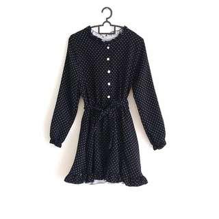 Korean style fashion dress (Dark Blue)