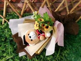 Convocation Bear Flower Bouquet