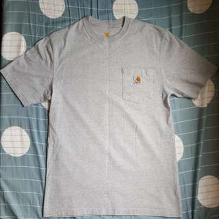 90%new Carhartt pocket tee gray