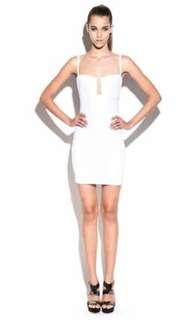 NOOKIE WHITE BUSTIER DRESS