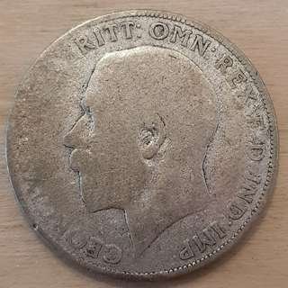 1920s Great Britain King George V Silver Florin Coin