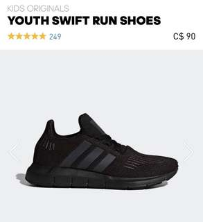 "Black Adidas ""Swift"" Shoes"