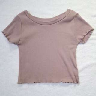 Mauve Cropped Top