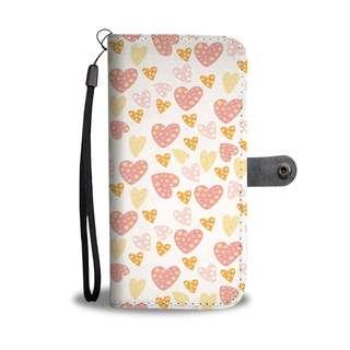 """Summer Hearts"" Wallet Phone Case"
