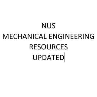 NUS Mechanical Engineering resources updated + other modules
