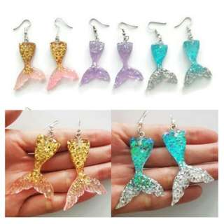 Instocks mermaid tail earrings
