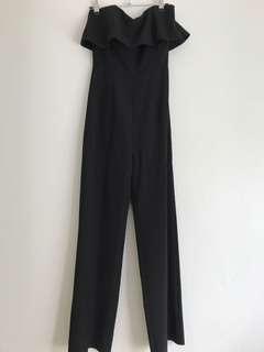 Kookai strapless black jumpsuit