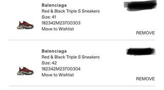 Balenciaga Triple S 'Red' ***SELLING OUT***