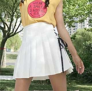 Tennis White Skirt