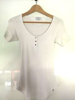 Bebe White Basic Top