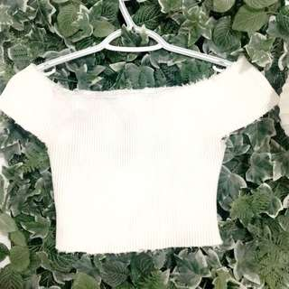 M Boutique White Off Shoulder Top Mendocino
