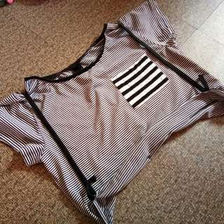 Croptop attached suspender