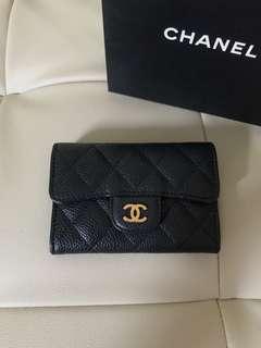 Authentic Chanel Classic Black Caviar wallet