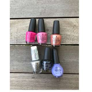 O.P.I Nail Lacquer Assorted Nail Colours