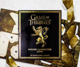 [NEW, SEALED] Game Of Thrones House of Lannister 3D Mask & Wall Mount