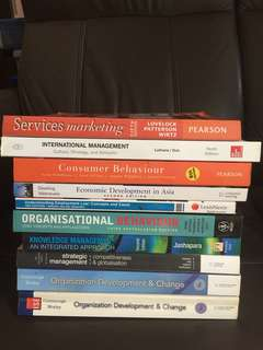 University textbooks (HR/Marketing/Strategy/knowledge/business)