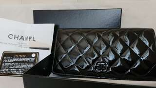 Chanel Wallet 100% authentic 100% new 漆皮黑色長銀包