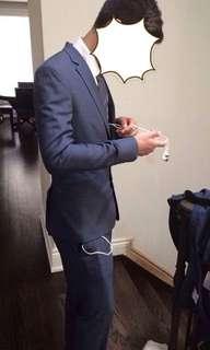 RW & Co Navy Suit Preston Tailor Fit  (Size M)
