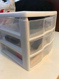 Bathroom makeup cosmetic storage drawers sterilite