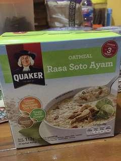 Quaker oatmeal Soto ayam 112g Isi 4 sachet