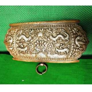 Old Silver engraving dragon, phoenix, kylin waist ornaments , 银雕刻龙、凤、麒麟腰饰牌