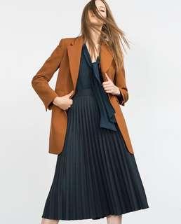 Zara Pleated Midi Skirt