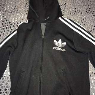 Adidas trefoil zip hoodie