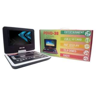 "Portable DVD Player 10.5 Inch 7"" Inch LCD Monitor, Built in TV, USB and SD Card Slot for MP3 - HUG (White) - 5755"