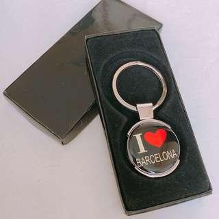 I love Barcelona Keychain