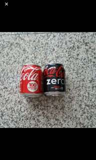 Mini Size Coca Cola Classic And Coca Cola Zero