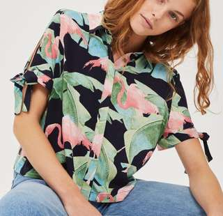 Topshop inspired Tropical Top