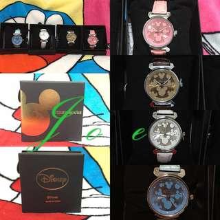 米奇仿皮帶手錶(包本地平郵)