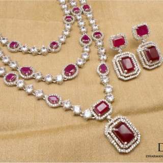 Regal Ruby Necklace Set.