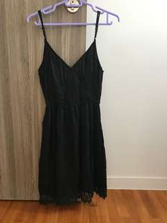 Black Lace Dress as maternity dress