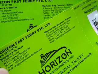 One-way ferry ticket from Sg to Batam