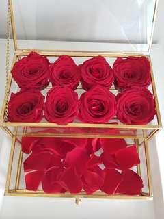 Preserved flower rose box