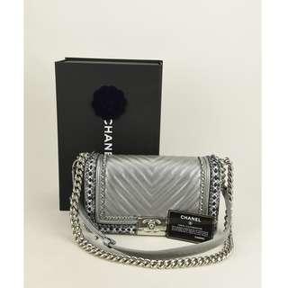 (NEW) Chanel Box Chanel 2017-2018 Collection Calfskin 2 Way Chain Plain Elegent