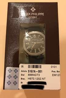 Double Sealed Patek Philippe Aquanaut 5167A-001