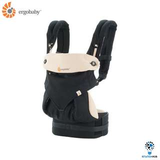 [Pre-Order] Ergobaby Four Position 360 Baby Carrier | Black/Camel [BG-BC360BLKCAM1NL]