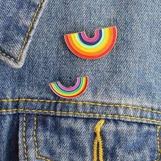 #188 harujuku uzzlang tumblr rainbow enamel pin | po