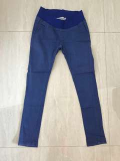 Blue maternity pants