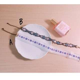 🚚 🎉(現貨)日系 蕾絲 刺繡 繡花 圖騰 頸鍊 項鍊