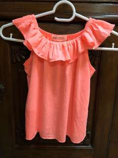 HnM girl top with ruffle