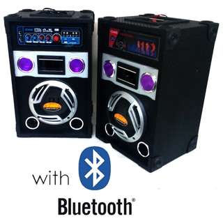 Speaker System with Bluetooth and Built-in MP3 Player USB and SD Card Slot Component Speaker - HUG B6308