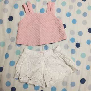 Gingersnaps Summer Top and Shorts (6m)