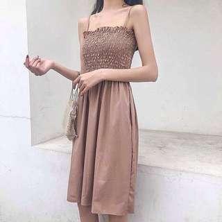 Sleeveless Tube Strap Elegant Long Dress