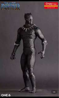 Black panther statues by crazy toy